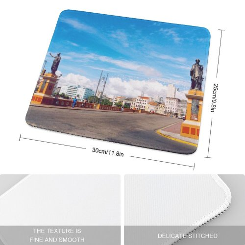 yanfind The Mouse Pad Metropolis Pernambuco Building Work Tourism Trip City Cloud Sky Light City Street Pattern Design Stitched Edges Suitable for home office game