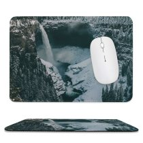 yanfind The Mouse Pad Abies Road Clearwater Plant River Pictures PNG Outdoors Waterfall Snow Grey Pattern Design Stitched Edges Suitable for home office game