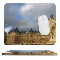 yanfind The Mouse Pad Building Landmark Roofs Statue Cloud Sky Palace Classic Classical Resting Architecture Park Pattern Design Stitched Edges Suitable for home office game