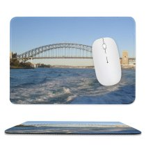 yanfind The Mouse Pad Fixed Bridg Link Cantilever Arch Australia Arch Sky Skyway Harbour Attractions Daytime Pattern Design Stitched Edges Suitable for home office game