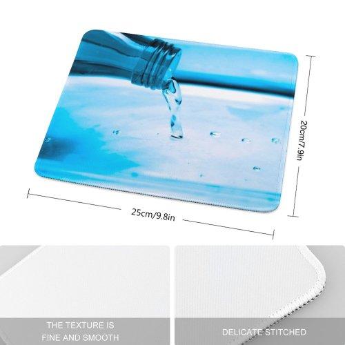 yanfind The Mouse Pad Vivid Transparent Flush Bottle Shed Dye Fluid Liquid Vibrant Drop Aqua Resources Pattern Design Stitched Edges Suitable for home office game