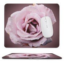 yanfind The Mouse Pad Centifolia Flower Garden Rosa Lilac Flower Gadern Plant Drop Family × Roses Pattern Design Stitched Edges Suitable for home office game