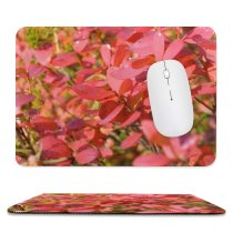 yanfind The Mouse Pad Flower Flowering Finland Leaf Plant Spring Lapland Tree Plant Autumn Petal Shrub Pattern Design Stitched Edges Suitable for home office game