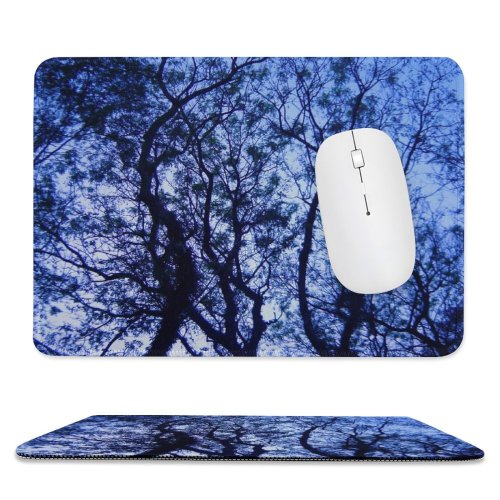 yanfind The Mouse Pad Tree Sky Fresh Clean Tranquility Focus Arvore Vista Baixo Natureza Verde Ceu Pattern Design Stitched Edges Suitable for home office game