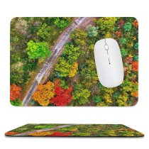 yanfind The Mouse Pad Scenery Tree Pottery Vase Plant Leaf Potted Free River Segre De Pattern Design Stitched Edges Suitable for home office game