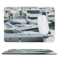 yanfind The Mouse Pad Marina Watercraft Harbor Sydney Transportation Marine Boat Vehicle Speed Boating Dock Show Pattern Design Stitched Edges Suitable for home office game