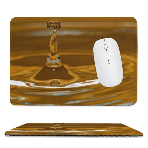 yanfind The Mouse Pad Waterdrops Macro Droplets Colour Drop Liquid Fluid Still Life Pattern Design Stitched Edges Suitable for home office game