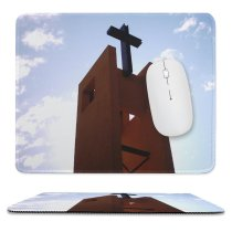 yanfind The Mouse Pad Chapel Sky Item Church Place Cielo Nubes Chile Campanario Tower Architecture Sky Pattern Design Stitched Edges Suitable for home office game