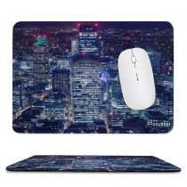 yanfind The Mouse Pad Otto Berkeley London City Cityscape Night Lights Skyscrapers Tower Gherkin Heron Tower Pattern Design Stitched Edges Suitable for home office game