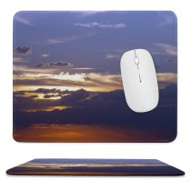 yanfind The Mouse Pad Cielo Atmosphere Daytime Sky Afterglow Anochecer Morning Cloud Sky Night Sunset Horizon Pattern Design Stitched Edges Suitable for home office game