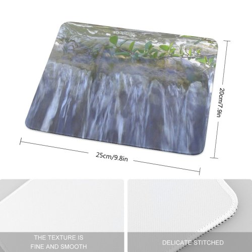 yanfind The Mouse Pad Waterfall Stream Resources Watercourse Vegetation Natural Landscape Pattern Design Stitched Edges Suitable for home office game