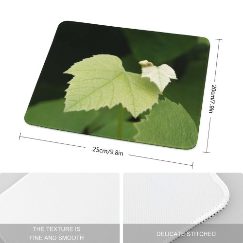 yanfind The Mouse Pad Vine Leaf Grape Grapes Leaves Wine Flower Plant Tree Thimbleberry Flowering Vitis Pattern Design Stitched Edges Suitable for home office game