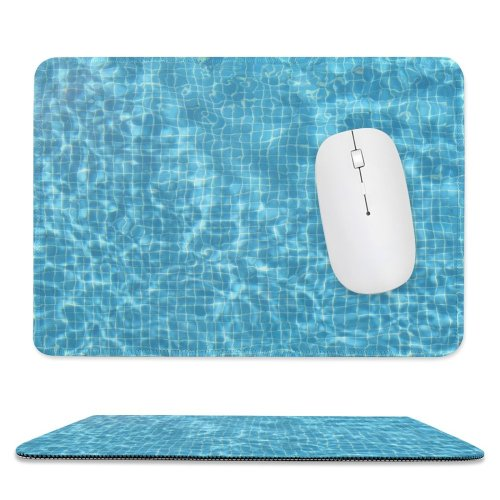 yanfind The Mouse Pad Turquoise Pool Refreshing Fresh Summer Aqua Azure Design Pattern Design Stitched Edges Suitable for home office game