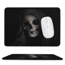 yanfind The Mouse Pad Dark Grim Reaper Skull Scary Pattern Design Stitched Edges Suitable for home office game