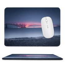 yanfind The Mouse Pad Otto Berkeley Architecture Forth Bridge United Kingdom UNESCO Heritage Queensferry Sunset River Pattern Design Stitched Edges Suitable for home office game