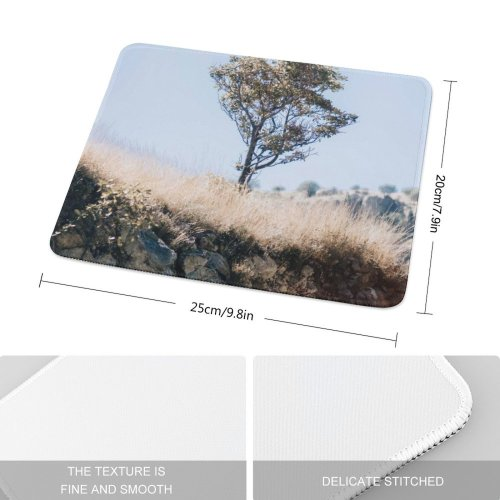 yanfind The Mouse Pad Savanna Plant Trunk Mexico Jalisco Pictures Grassland Outdoors Grey Tree Free Pattern Design Stitched Edges Suitable for home office game