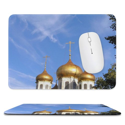 yanfind The Mouse Pad Tula Kremlin Cathedral Sky Autumn Dome Gold Landmark Place Worship Steeple Building Pattern Design Stitched Edges Suitable for home office game