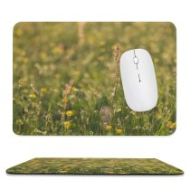 yanfind The Mouse Pad Agriculture Field Blossom Grass Domain Rural Plant Public Outdoors Farm Pasture Pattern Design Stitched Edges Suitable for home office game