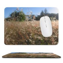 yanfind The Mouse Pad Family Vegetation Landscape Sky Plant Spring Grass Natural Grass Morning Ecoregion Wheat Pattern Design Stitched Edges Suitable for home office game