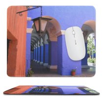yanfind The Mouse Pad Building Majorelle Church Arch City Catalina Column Ancient Santa Catarina Mediterranian Architecture Pattern Design Stitched Edges Suitable for home office game