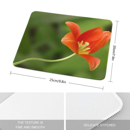 yanfind The Mouse Pad Tulip Flower Flowering Plant Petal Botany Pedicel Stem Pattern Design Stitched Edges Suitable for home office game