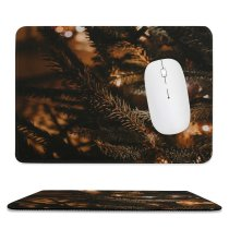 yanfind The Mouse Pad Abies Эстония Tree Lighting Pine Night Domain Plant Year Fir Garlands Pattern Design Stitched Edges Suitable for home office game