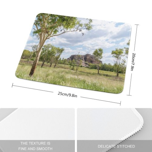 yanfind The Mouse Pad Savanna Countryside Plant Trunk Mound Australia Nt Kakadu Pictures Grassland Outdoors Pattern Design Stitched Edges Suitable for home office game