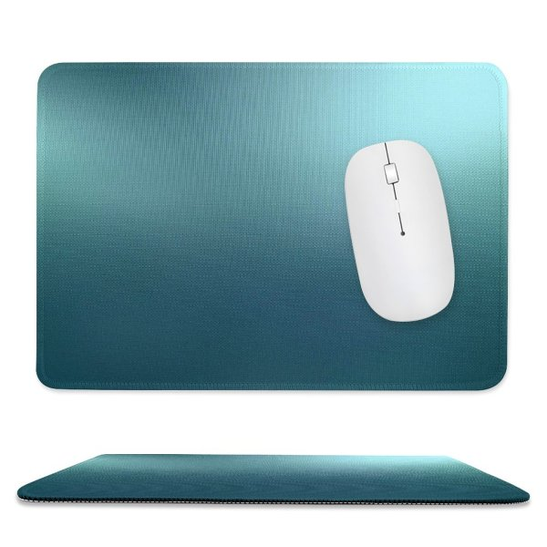 yanfind The Mouse Pad Turquoise Cyan Shining Light Metallic Metal Texture Textures Structure Structures Backdrop Patterns Pattern Design Stitched Edges Suitable for home office game