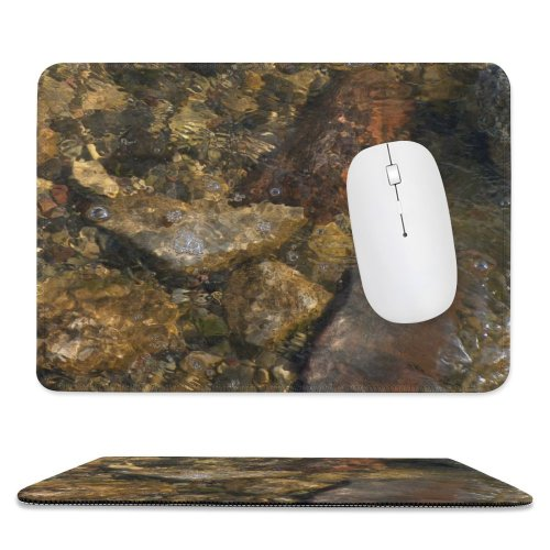 yanfind The Mouse Pad Wave Waves Sea Beach Stone Stones Abstract Bubble Bubbles Wall Refraction Light Pattern Design Stitched Edges Suitable for home office game