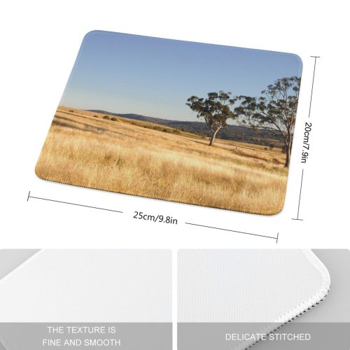 yanfind The Mouse Pad Scenery Field Tree Savanna Grass Plant Free Outdoors Wallpapers Land Grassland Pattern Design Stitched Edges Suitable for home office game