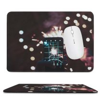 yanfind The Mouse Pad Blur Focus Dark Time Celebration Illuminated Lights Lapse Fireworks Evening Sparklers Selfie Pattern Design Stitched Edges Suitable for home office game