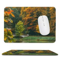 yanfind The Mouse Pad Abies Plant Forest Россия Pictures Outdoors Tree Fir Free Falls Maple Pattern Design Stitched Edges Suitable for home office game