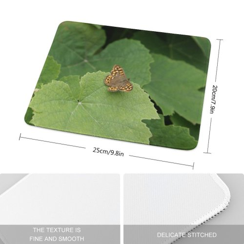 yanfind The Mouse Pad Vine Leaf Grapes Grape Wine Leaves Butterfly Cynthia (subgenus) Comma Insect Moths Pattern Design Stitched Edges Suitable for home office game