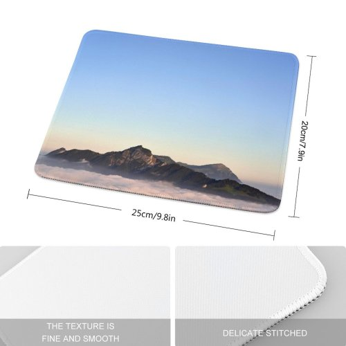 yanfind The Mouse Pad Scenery Birds Range Sky Mountain Domain Public Outdoors Wallpapers Images Sunrise Pattern Design Stitched Edges Suitable for home office game