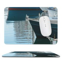 yanfind The Mouse Pad Marina Texture Watercraft Transportation Harbor Boats Naval Reflection Vehicle Architecture Vessel Boat Pattern Design Stitched Edges Suitable for home office game