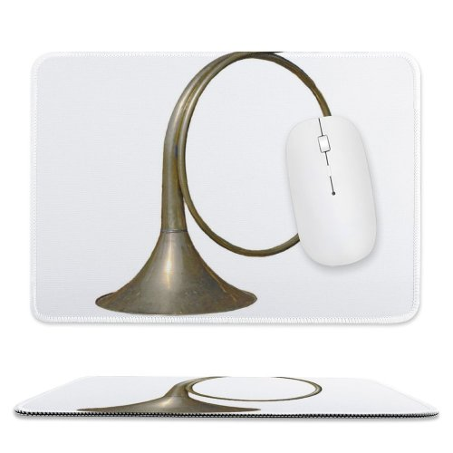 yanfind The Mouse Pad Trumpet Sounds Metal Golden Brass Pattern Design Stitched Edges Suitable for home office game