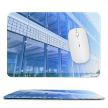 yanfind The Mouse Pad Blur Focus City Design Office Downtown Window Expression Steel Building Glass Urban Pattern Design Stitched Edges Suitable for home office game