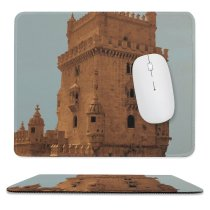 yanfind The Mouse Pad Building Love Sky Fortification Tower History Sky Classic Lisbon Wall Historic Cities Pattern Design Stitched Edges Suitable for home office game