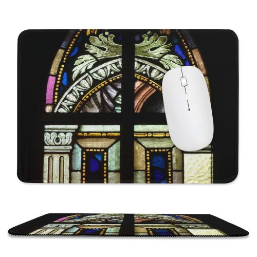 yanfind The Mouse Pad Vitral Glass Art Crafts Window Light Venezuela Alemania Colony Tovar Paintings Translucent Pattern Design Stitched Edges Suitable for home office game