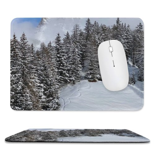 yanfind The Mouse Pad Sankt Abies Pine Plant Pictures PNG Outdoors Grey Snow Tree Fir Pattern Design Stitched Edges Suitable for home office game