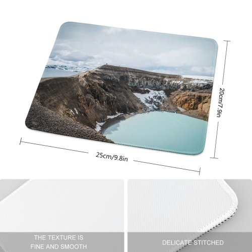 yanfind The Mouse Pad Scenery Promontory Slope Iceland Mountain Caldera Scale Askja Free Outdoors Wallpapers Pattern Design Stitched Edges Suitable for home office game