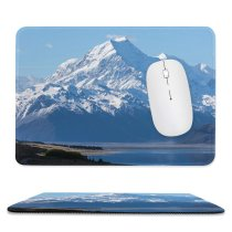 yanfind The Mouse Pad Oliver Buettner Mount Cook Zealand Aoraki National Park Mountain Peak Snow Covered Pattern Design Stitched Edges Suitable for home office game
