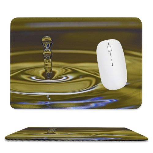 yanfind The Mouse Pad Waterdrops Macro Droplets Colour Drop Liquid Resources Transparent Fluid Pattern Design Stitched Edges Suitable for home office game