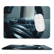 yanfind The Mouse Pad Blur Focus Condenser Depth Technology Electronics Field Audio Microphone Sound Studio Leather Pattern Design Stitched Edges Suitable for home office game