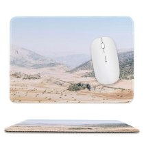 yanfind The Mouse Pad Scenery Ridge Birds Field Mountain Domain Rolling Sand Barren Public Outdoors Pattern Design Stitched Edges Suitable for home office game