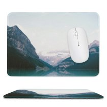 yanfind The Mouse Pad Wall Glacier Lake Tree Mountain Snow Canada Free Ice Outdoors Art Pattern Design Stitched Edges Suitable for home office game