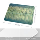 yanfind The Mouse Pad Trees Lake Reflection Ripples Emerald Firs Evergreens Tree Natural Landscape Wilderness Forest Pattern Design Stitched Edges Suitable for home office game