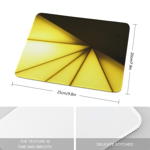 yanfind The Mouse Pad Triangles Light Soft Pyramides Art Abstract Playing Tints Shades Pattern Design Stitched Edges Suitable for home office game