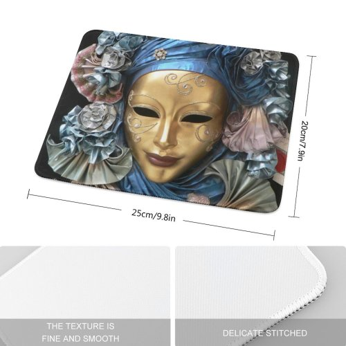 yanfind The Mouse Pad Venice Italy Sculpture Statue Art Headgear Carving Stone Mythology Pattern Design Stitched Edges Suitable for home office game