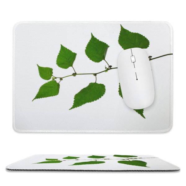 yanfind The Mouse Pad Vine Plant Leaf Leaves Flower Tree Canoe Birch Swamp Flowering Elm Twig Pattern Design Stitched Edges Suitable for home office game